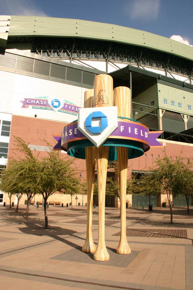 Chase Bank Sign Arizona Diamondbacks  Phoenix, Arizona