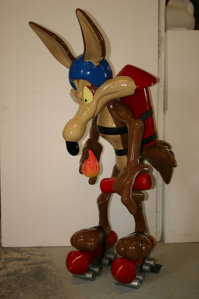 Rocket Wile E. Coyote Sculpture-6′ tall Six Flags Park in Mexico City, Mexico