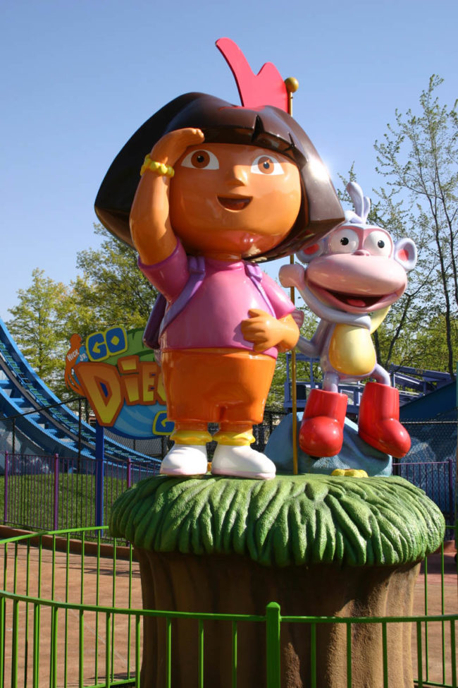Dora and Boots The Kings Island Park Cincinnati, Ohio, USA