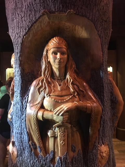 Freyja-Gods of the Vikings Stave Church  Norway Epcot Magic Kingdom  Orlando Florida