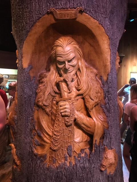 Loki-Gods of the Vikings Exhibit Stave Church  Norway Epcot Magic Kingdom  Orlando Florida