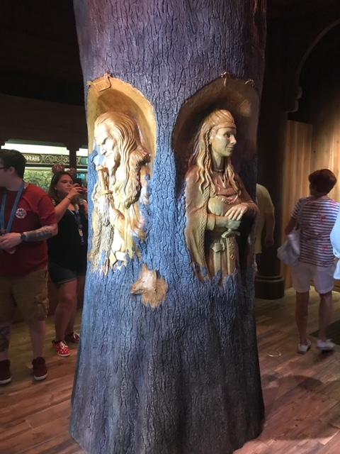 Gods of the Vikings Exhibit Stave Church  Norway Epcot Magic Kingdom  Orlando Florida