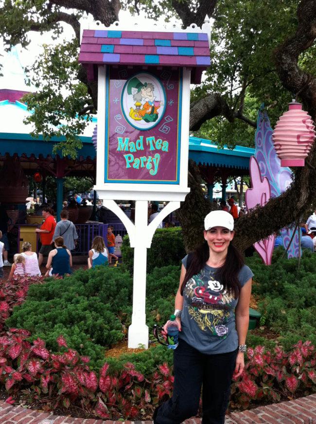 Mad Hatter Sign Magic Kingdom-Walt Disney World-Orlando, Florida