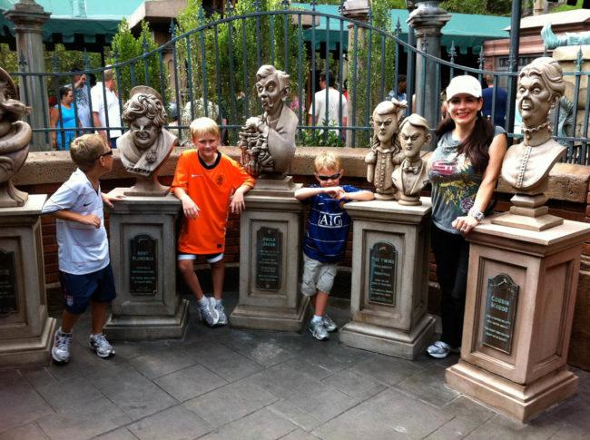 Haunted Mansion Queue Line Sculptures Magic Kingdom Walt Disney World Orlando, Florida