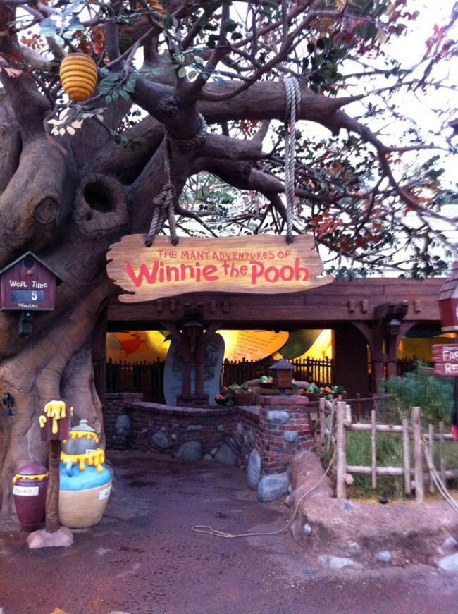 Winnie the Pooh Ride Entry Sign Magic Kingdom Walt Disney World Orlando, Florida