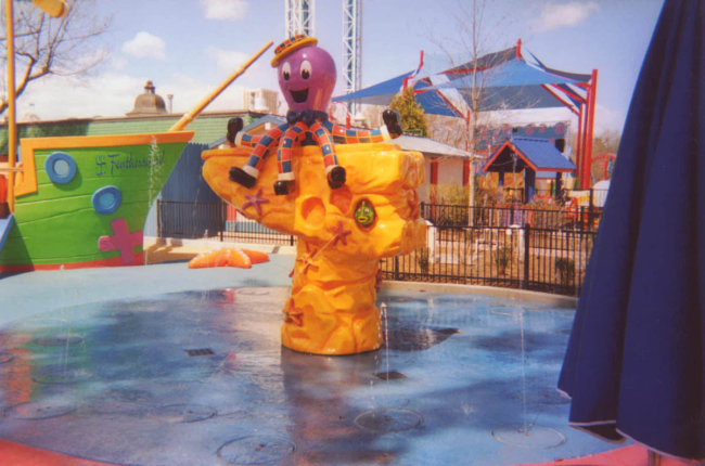 Wiggles Water Fountain Six Flags Great America Six Flags New England