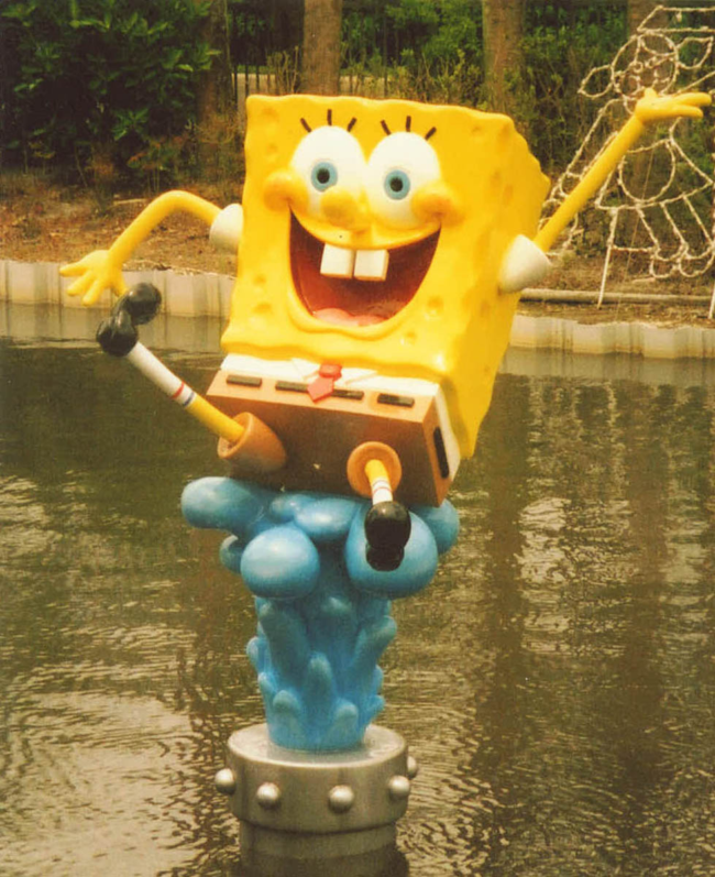 Sponge Bob Fountain The Nickelodeon Hotel Orlando, Florida