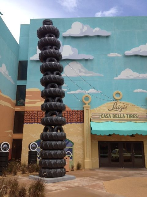 30' Tower of Tires - Pixar Cars Disney's Art of Animation Resort-Orlando, Florida