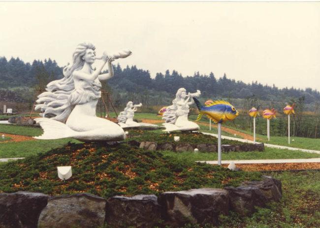 Japanese Mermaids Fuji Gulliver Land Tokyo, Japan.