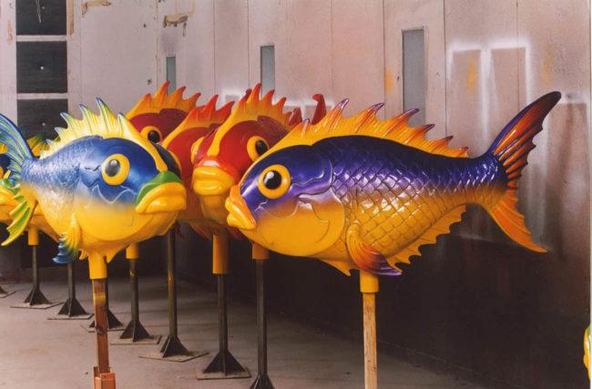 Japanese Fish Fuji Gulliver Land Tokyo, Japan.