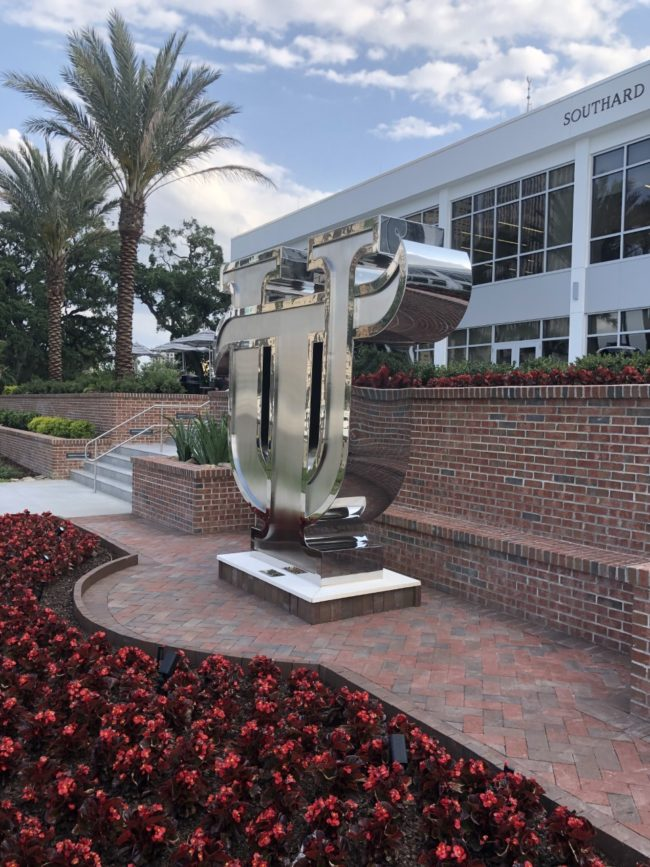University of Tampa Stainless Steel Sculpture