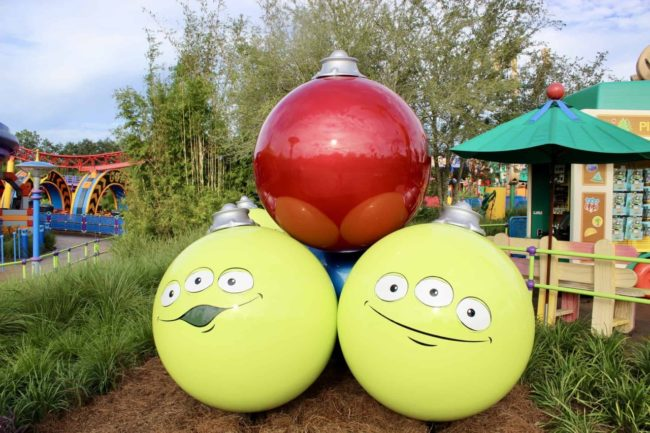 Toy Story Alien Christmas Ornaments Toy Story Land  Walt Disney World Orlando, Florida