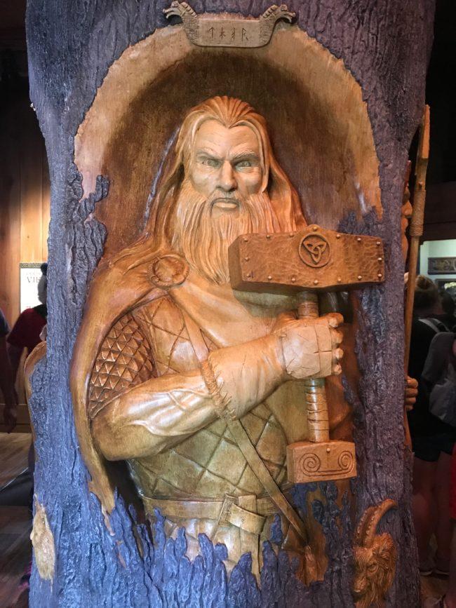 Thor-Gods of the Vikings Stave Church  Norway Epcot Magic Kingdom  Orlando Florida