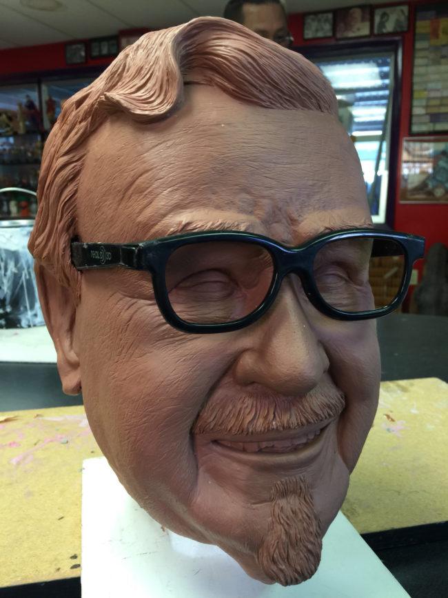 Colonel Sanders Actual Size Clay Head