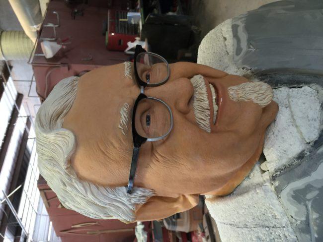 Colonel Sanders Sculpture Painted Fiberglass Head