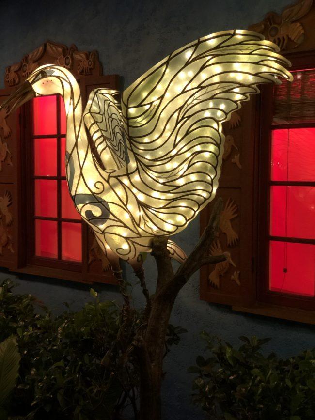 Illuminated Cranes Animal Kingdom Walt Disney World Orlando, Florida